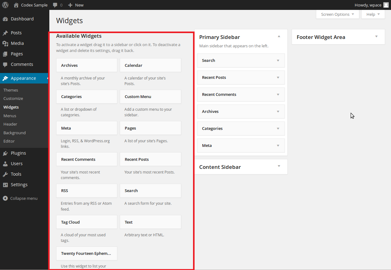 Add Widgets in WordPress CMS Website simple steps. Available widgets in wordpress CMS