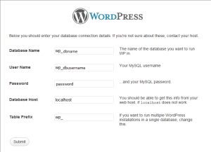Install WordPress CMS Manually for Website Design Agency London.Database configuration WordPress CMS.