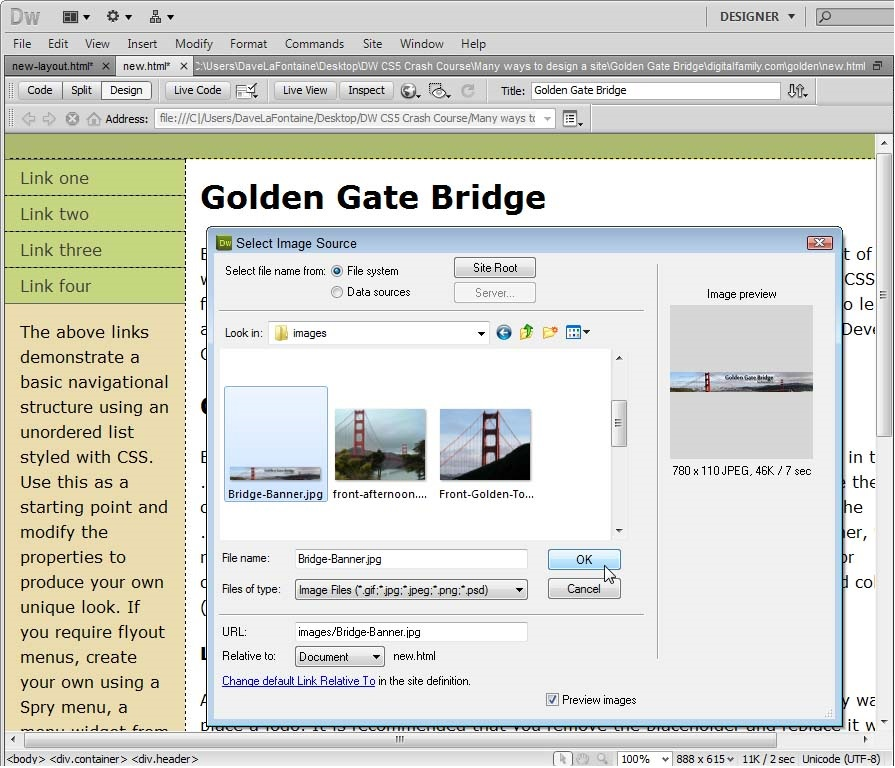 Dreamweaver CS5.5 Tutorial How to Design a Website with Dreamweaver CS 5.5 add page title
