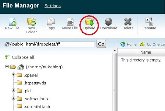 Tips how to Get Dropplets CMS Up and Running File Manager Cpanel