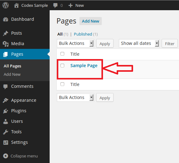 Edit page in WordPress CMS. Simple and detailed steps for biginers.
