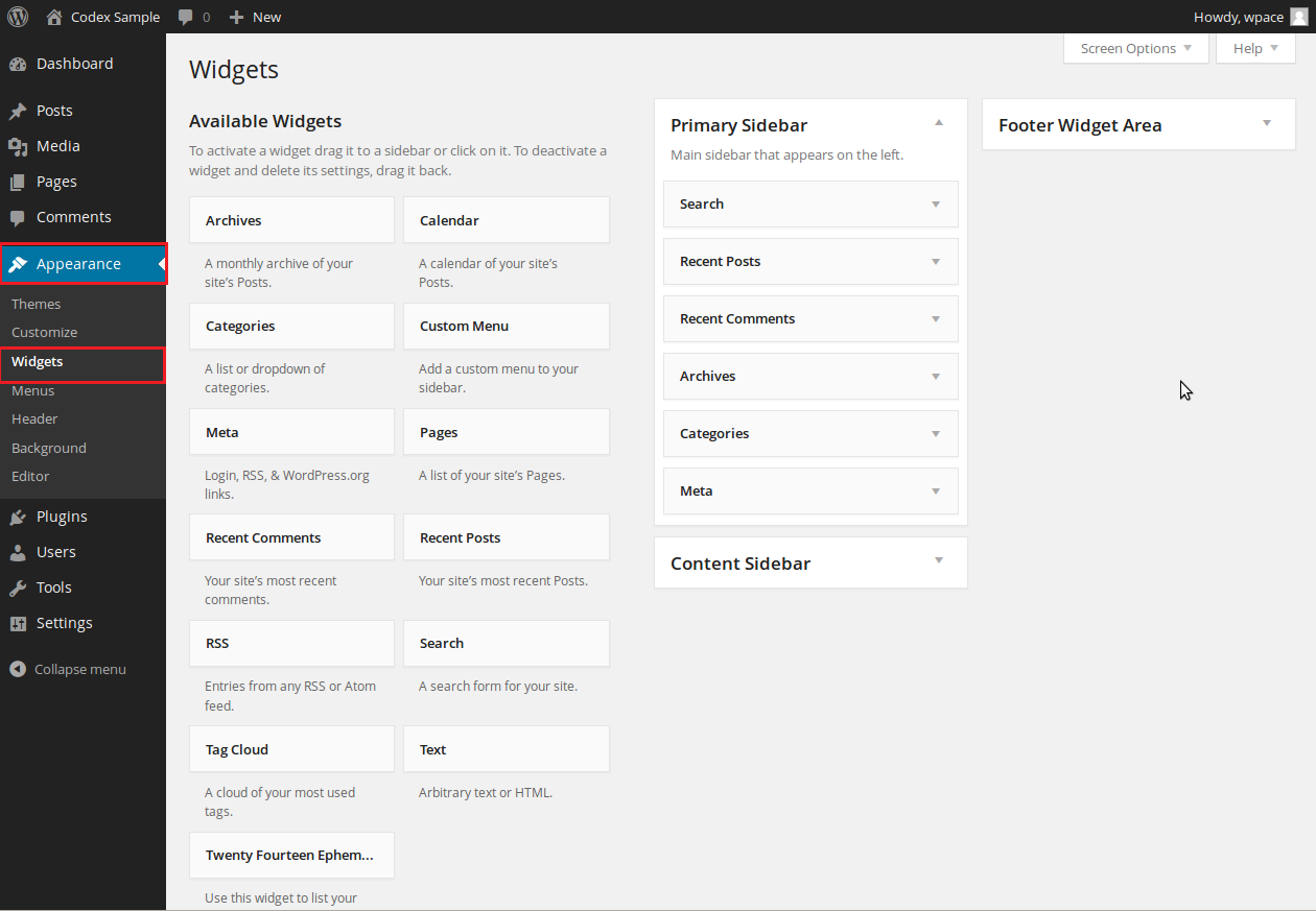 Add Widgets in WordPress CMS Website simple steps. WordPress admin panel add widgets in side bar.