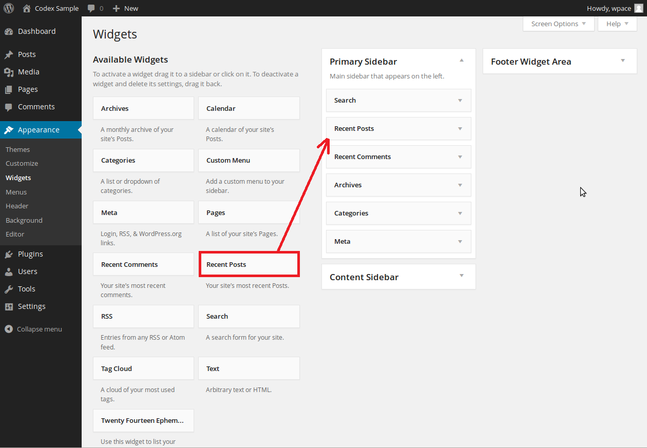 Add Widgets in WordPress CMS Website simple steps. Drag and drop widgets in WordPress CMS