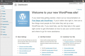 First-Time Administration in WordPress CMS for web design