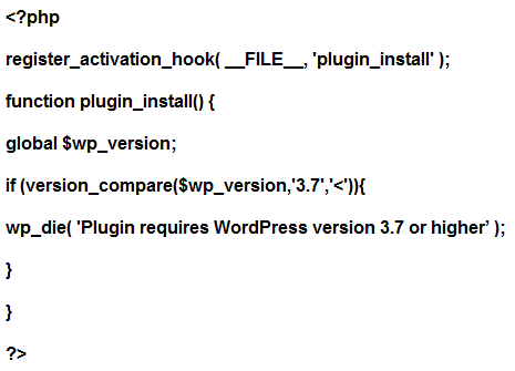 Activating  Functions for plugin in WordPress