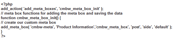 Creating a Meta Box in WordPress by Web Design Agency London.