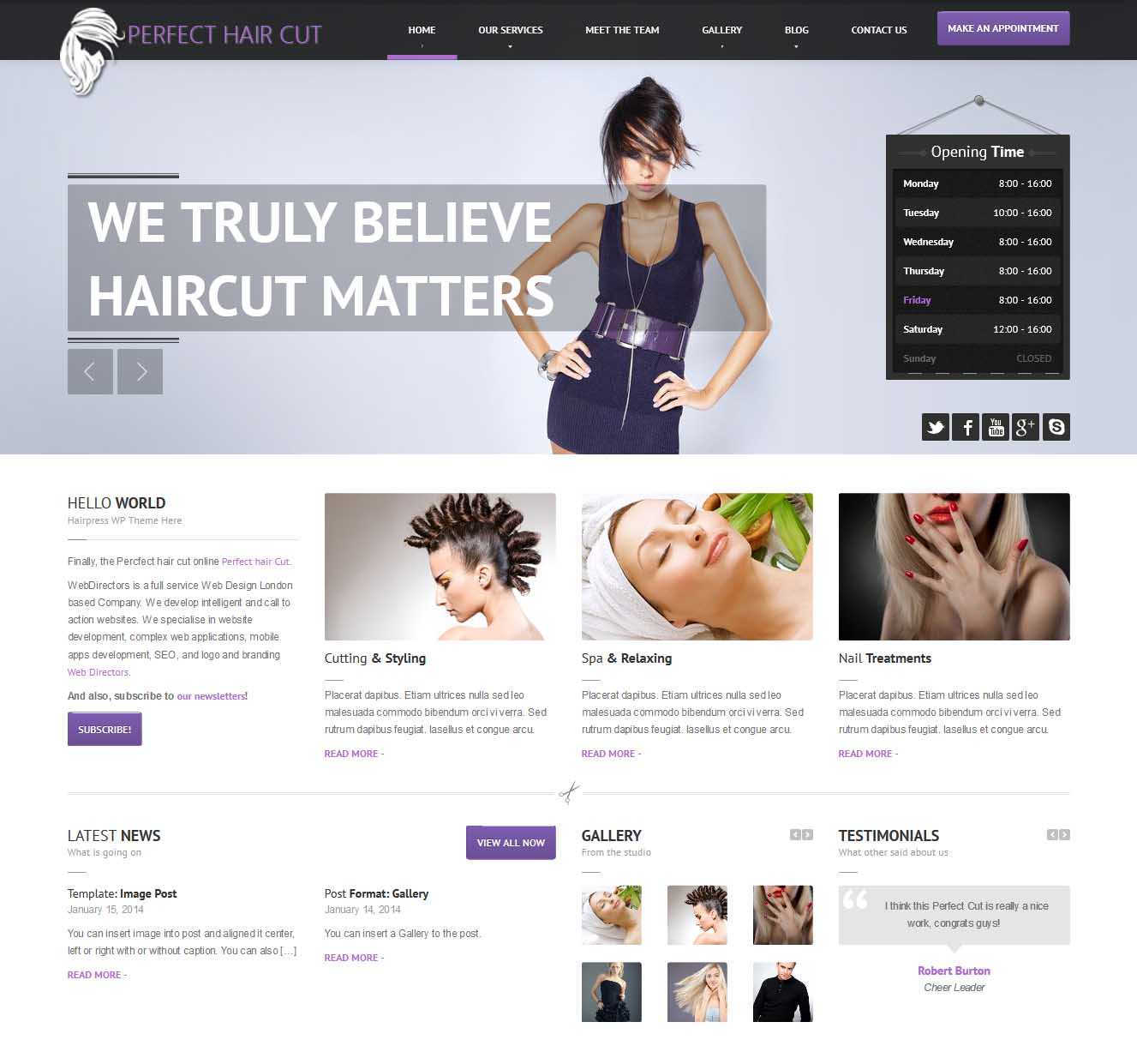 01 - Perfect hair Cut - Landing Page