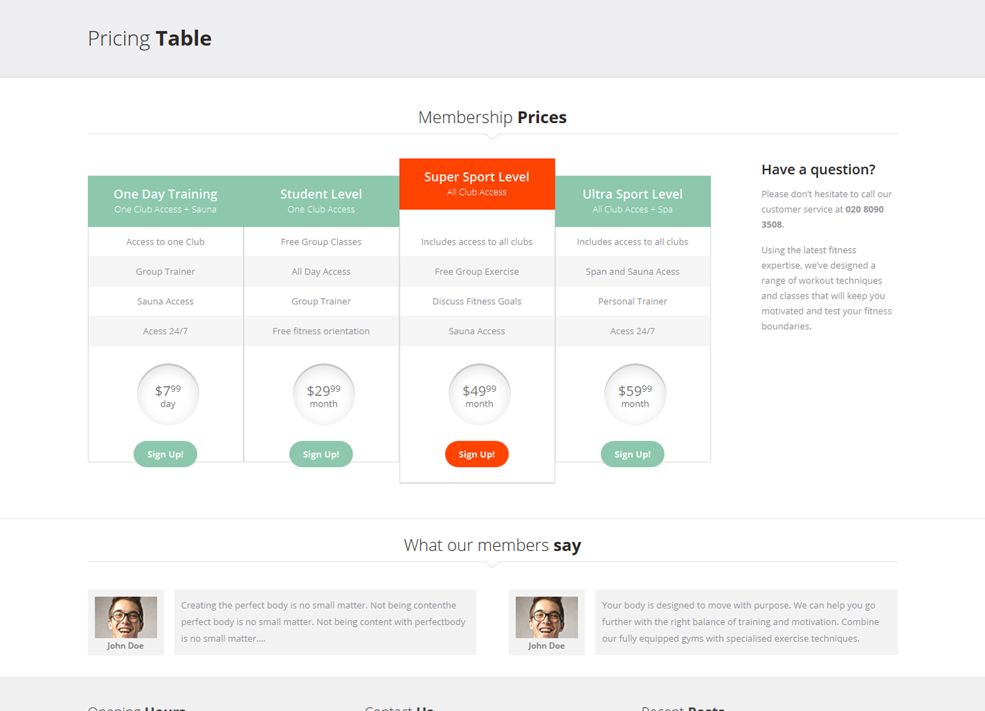 D-Fitness-Pricing-Table