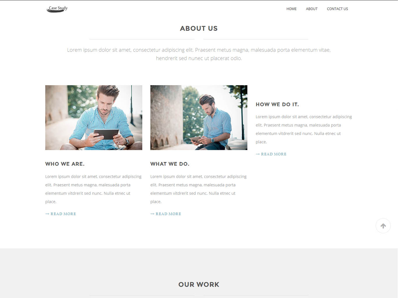 case study- mobile website design-about