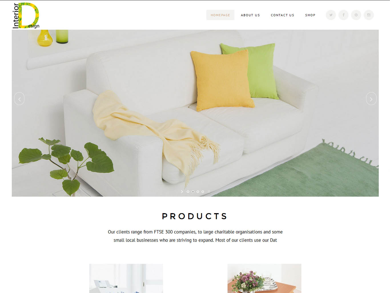 interior-ecommerce web design