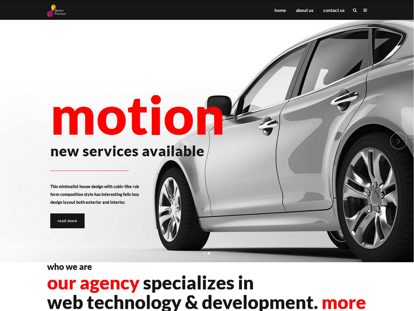 motor web design agency london