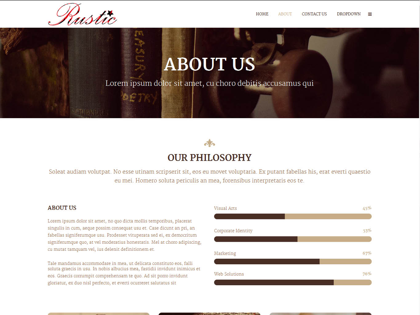 rustic bespoke website design-about