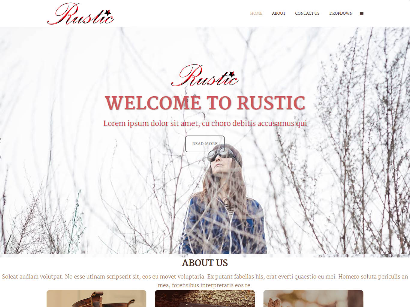 rustic bespoke website design